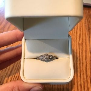 Sterling silver 3 stone diamond ring from Jared's